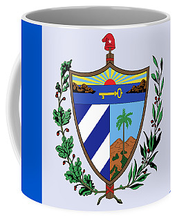 Coffee Mug featuring the drawing Cuba Coat Of Arms by Movie Poster Prints