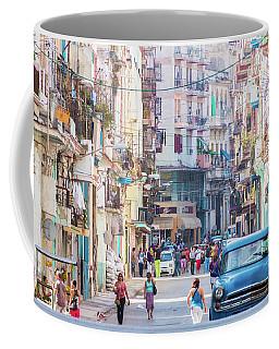 Cuban Street Coffee Mug by David Warrington