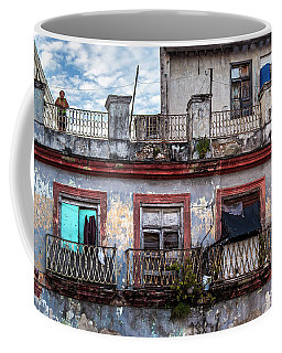 Coffee Mug featuring the photograph Cuban Woman At Calle Bernaza Havana Cuba by Charles Harden