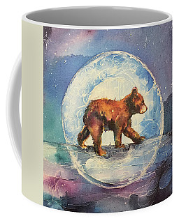 Coffee Mug featuring the painting Cubbie Bear by Christy Freeman