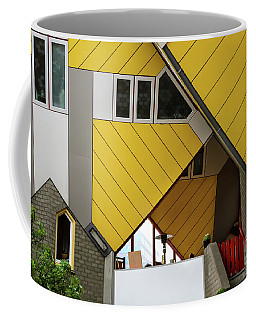 Coffee Mug featuring the photograph Cube Houses Detail In Rotterdam by RicardMN Photography