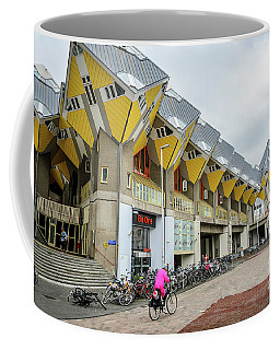 Coffee Mug featuring the photograph Cube Houses In Rotterdam by RicardMN Photography