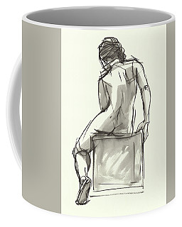 Coffee Mug featuring the painting Cube by Judith Kunzle
