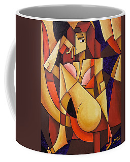 Cube Woman Coffee Mug