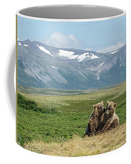 Cubs Playing On The Bluff Coffee Mug