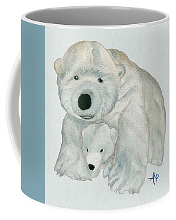 Cuddly Polar Bear Watercolor Coffee Mug