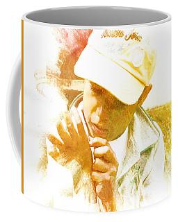 Coffee Mug featuring the photograph Cuenca Kid 902 - Adinea by Al Bourassa