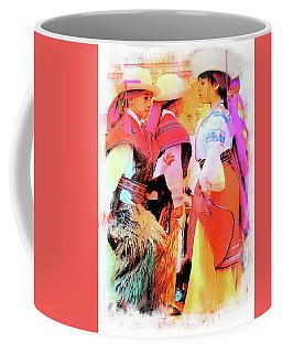 Coffee Mug featuring the photograph Cuenca Kids 884 by Al Bourassa