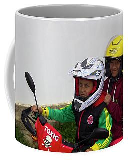 Coffee Mug featuring the photograph Cuenca Kids 889 by Al Bourassa