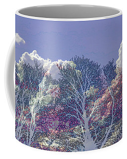 Coffee Mug featuring the photograph Cumulus And Trees by Nareeta Martin
