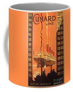 Cunard Ocean Liner Poster Coffee Mug