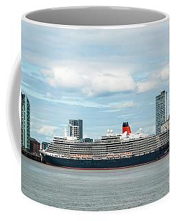 Cunard's Queen Elizabeth At Liverpool Coffee Mug
