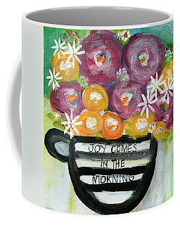 Cup Of Joy 2- Contemporary Floral Painting Coffee Mug