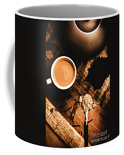 Cup Of Tea With Ingredients And Kettle On Wooden Table Coffee Mug