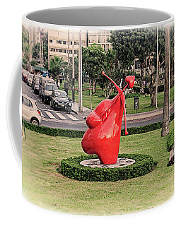 Coffee Mug featuring the photograph Cupid's Heart  by Mary Machare