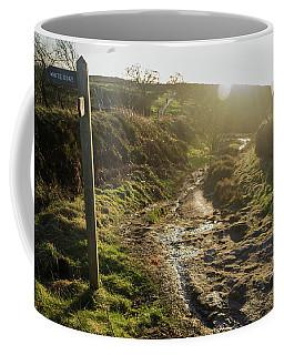 Curbar Edge Sunset Over The Hill Coffee Mug