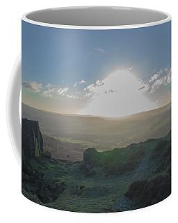 Curbar Edge Sunset Through The Clouds Coffee Mug