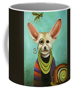Coffee Mug featuring the painting Curious As A Fox by Leah Saulnier The Painting Maniac