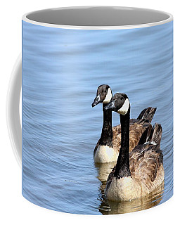 Curious Canda Geese Coffee Mug by Sheila Brown