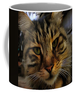 Curious Cat Coffee Mug