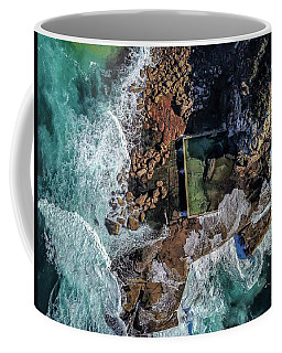 Coffee Mug featuring the photograph Curl Curl Pool by Chris Cousins