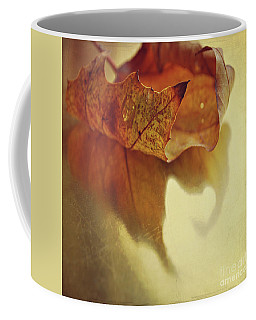 Curled Autumn Leaf Coffee Mug by Lyn Randle