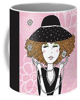 Curly Girl In Polka Dots Coffee Mug