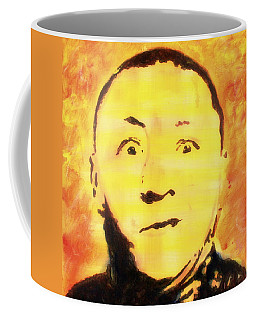 Coffee Mug featuring the painting Curly Howard Three Stooges Pop Art by Bob Baker
