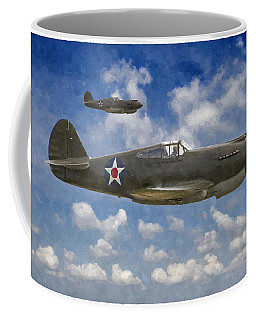Curtis P-40 Warhawks Coffee Mug by Kai Saarto