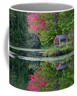 Coffee Mug featuring the photograph Curtis Pond Autumn  by Alan L Graham