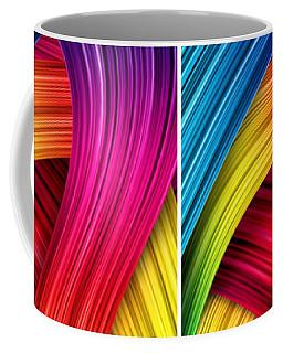 Curved Abstract Coffee Mug by Sheila Mcdonald