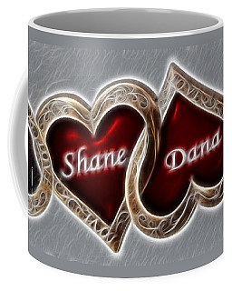 Coffee Mug featuring the photograph Custom Hearts by Shane Bechler