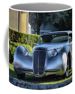 Coffee Mug featuring the photograph Custom Stainless Roadster by Bill Dutting