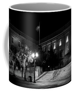 Customs House At Night In Black And White Coffee Mug