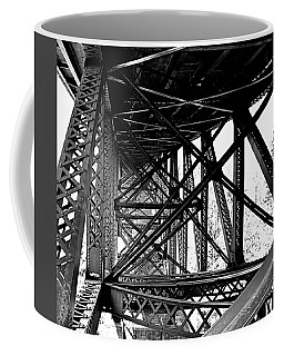 Coffee Mug featuring the photograph Cut River Bridge by SimplyCMB