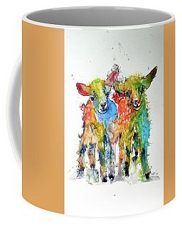 Cute Baby Goats Coffee Mug by Kovacs Anna Brigitta