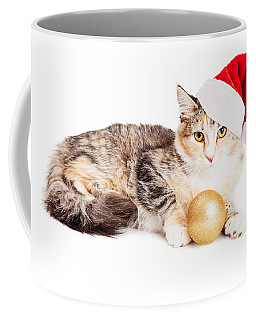 Cute Christmas Calico Kitten Coffee Mug