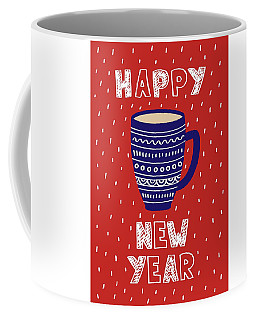 Coffee Mug featuring the digital art Cute Christmas Card With A Picture Of A Mug Scandinavian Style by Christopher Meade