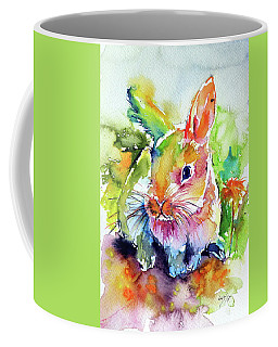 Cute Rabbit Coffee Mug by Kovacs Anna Brigitta