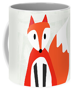 Cute Red And White Fox- Art By Linda Woods Coffee Mug