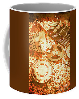 Cutting A Scene Of Vintage Film Coffee Mug by Jorgo Photography - Wall Art Gallery