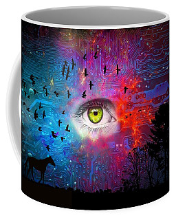 Cyber Nature Coffee Mug by Paulo Zerbato