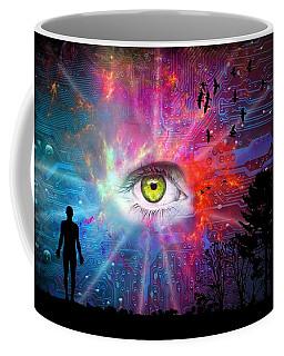 Cyber Sky Coffee Mug by Paulo Zerbato