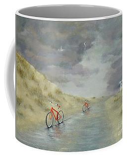 Cycling On Ocracoke Island Coffee Mug