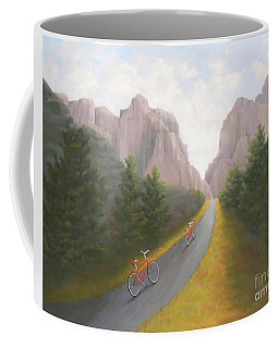 Cycling To The Pearly Gates Coffee Mug