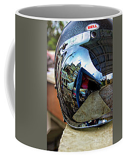 Coffee Mug featuring the photograph Cyclist's View Of Biblian Church by Al Bourassa