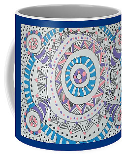 Coffee Mug featuring the drawing Cylinder by Carole Breccht