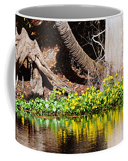 Cypress And Flower Reflections Coffee Mug