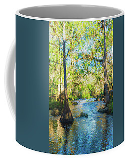 Cypress Trees On The River Coffee Mug