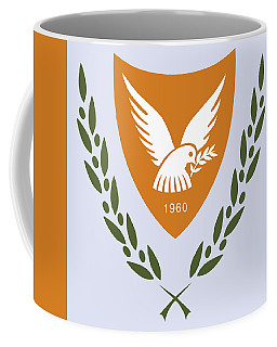 Coffee Mug featuring the drawing Cyprus Coat Of Arms by Movie Poster Prints